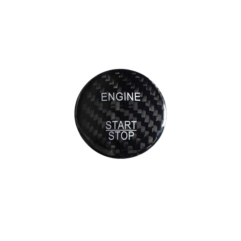 M.JVisun Fibra de Carbono Motor Arranque Paro Bot/ón Pegatinas para Mercedes-Benz A Clase B Clase C Clase AMG GLA GLC ML W205 X253 Rojo