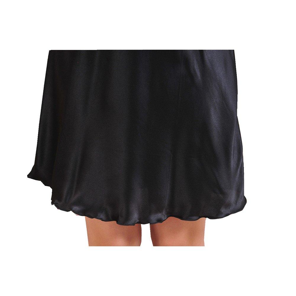iBaste Camicia da notte Indumenti da notte Raso Lingerie Singolo colore Sottoveste Tinte unite S-XXXL