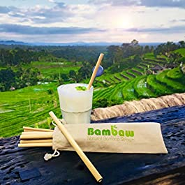 Bambaw Reusable Bamboo Drinking Straws | 12 Straws