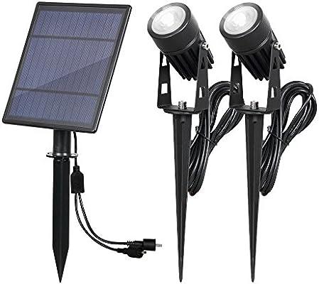 T-SUN Foco Solar, Luz Solar de Exterior de Impermeable IP65, Luz ...
