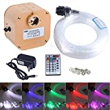 CHINLY 16W RGBW Twinkle 28key Remote LED Fiber Optic Star Ceiling Lights Lamp Kit 335 Strands 13.1ft Long,(0.75+1.0+1.5mm) Optical Fiber+Crystal