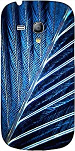 Snoogg Feather Designer Protective Back Case Cover For Samsung Galaxy S3 Mini