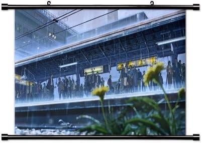 El Jardín De Las palabras (kotonoha no NIWA) Anime de tela Póster de desplazamiento de pared (32 x 19) inches: Amazon.es: Hogar