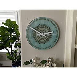 Personalized Clocks for Kitchen - A Unique Anniversary Clock and Wedding-Gifts for Couple (Without Stand, Clements Design)