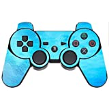 Tranquil Blue Teal Aqua Turquoise Caribbean Ocean Water PS3 Dual Shock wireless controller Vinyl Decal Sticker Skin by Moonlight Printing