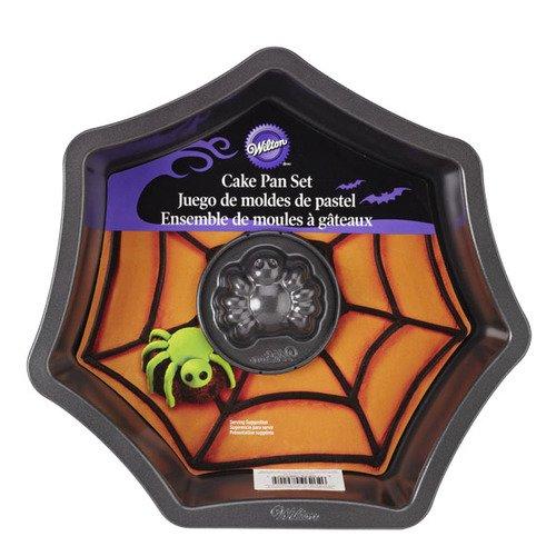 Wilton 2105-8920 Contoured Cake Pan Web with Spider Cake Pan Set