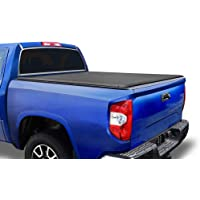 Tyger Auto T1 Soft Roll Up Truck Bed Tonneau Cover for 2007-2013 Toyota Tundra Fleetside 5.5' Bed TG-BC1T9038, Black
