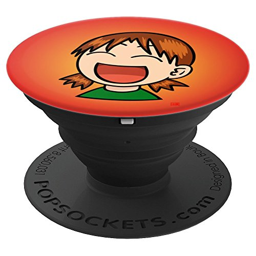 Laughing Manga Girl Japanese Pop Culture Lovers - PopSockets Grip and Stand for Phones and Tablets