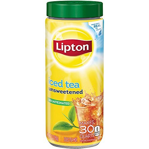 Caffeine Free Iced Tea - Lipton Unsweetened Decaffeinated Instant Tea Mix, 30 Quarts