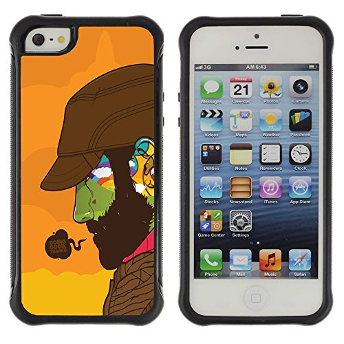 Antidérapant Coque Housse Case Etui Cover Pour Apple iPhone 5 / 5S / Doing Good Colorful Face
