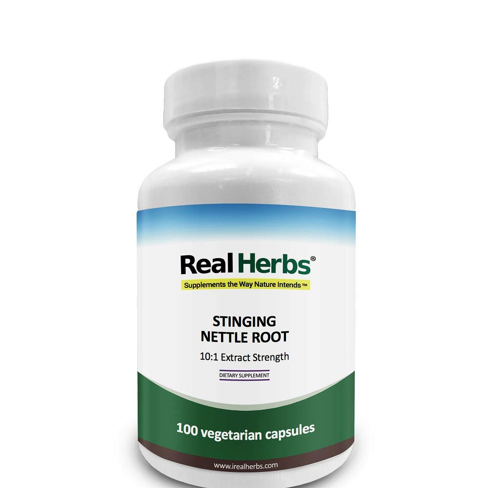 Stinging Nettle Root 10:1 Pure Extract 750mg (Equivalent to 7500mg of Raw Stinging Nettle Root) - 100 Vegetarian Capsules