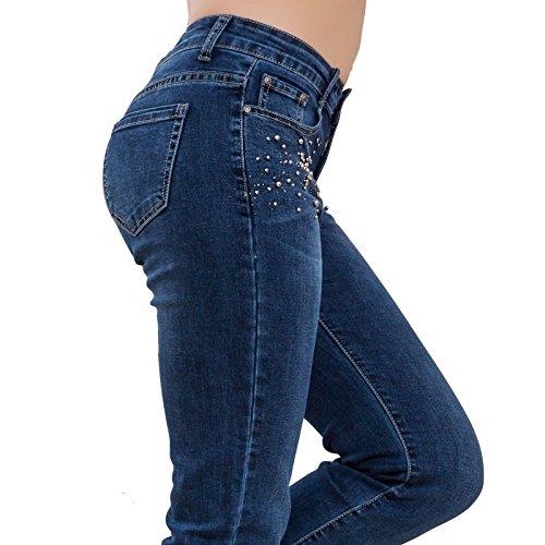 Jeans para Mujer Skinny Vaqueros Toocool wq06gx