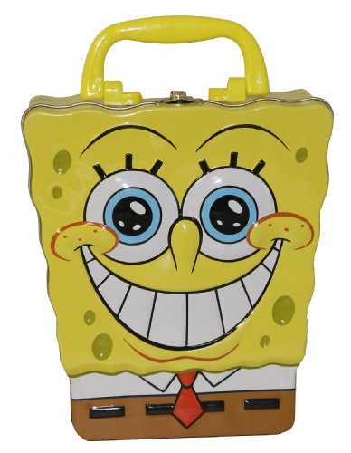 Spongebob Squarepants Toy Box (The Tin Box Company 248207-12 Sponge Bob Shaped Large Carry All Tin)