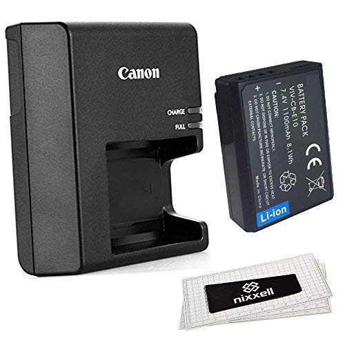 Canon LC-E10 Charger for Canon LP-E10 Li-ion Battery compatible with Canon EOS Rebel T3, T5, T6, EOS 1100D,EOS 1200D, EOS 1300D, , EOS Kiss X50, Kiss X70 + Bonus Battery!