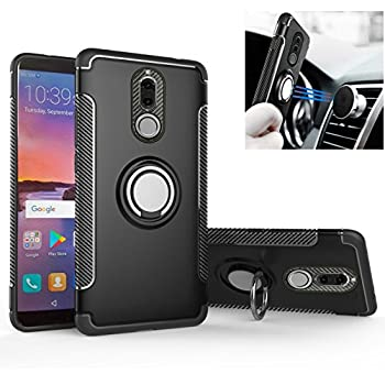 Tyre Pattern Design Heavy Duty Tough Armor Extreme Protection Case With Kickstand Shock Absorbing Detachable 2 in 1 Case Cover For Huawei P10 Hyun Black MRSTER Huawei P10 Case