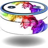 MightySkins Protective Vinyl Skin Decal for Amazon Echo Dot (1st Generation) wrap Cover Sticker Skins Rainbow Smoke