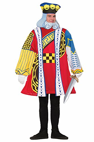 King Hearts Costume (King of Hearts Playing Card Adult Costume)