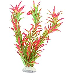 ReFaXi Artificial Imitation Aquatic Flower Grass Plant Landscaping Aquarium Fish Tank Ornament 24.5cm