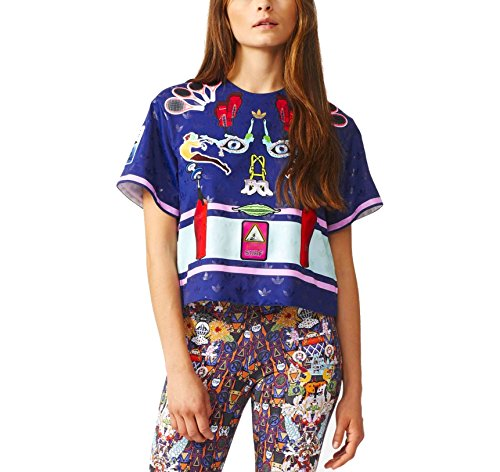 adidas Originals x Mary Katrantzou Women's Structured Cropped T-Shirt (Small)