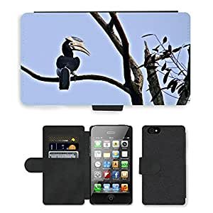 hello-mobile PU LEATHER case coque housse smartphone Flip bag Cover protection // M00137174 Malabar Pied Hornbill // Apple iPhone 4 4S 4G