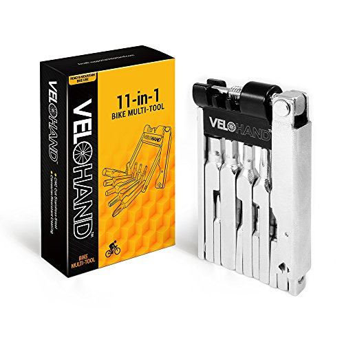 Bike Multitool 11 in 1. Lightweight, Compact & Strong Bicycle Repair Multi Tool With Hex Wrenches, Screwdrivers, Chain Breaker, and Spoke Wrench. Fixes Most Common Bike Repairs At Home Or On Your Ride