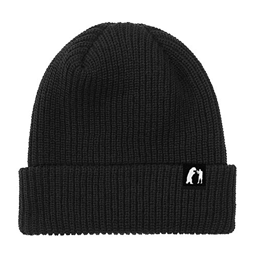 Mammal Stratford black acrylic fold Beanie with reversible woven Label