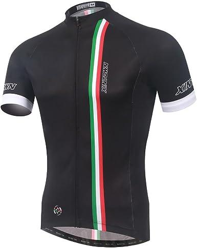 Baymate Unisexo Maillots Ciclismo Manga Corta Bicicleta Camiseta ...