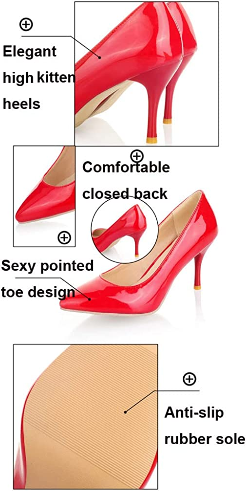 MURSFANDS Ladies Candy Colors Pointed Toe Court Shoes Slip