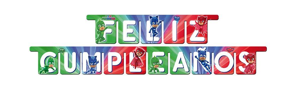 PJ Masks- Guirnalda para decoración de fiestas (Verbetena 016001318)