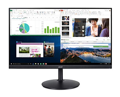 Acer CB272 bmiprx 27 inches Full HD (1920 x 1080) IPS Zero Frame Monitor with AMD Radeon FreeSync Technology - 1ms VRB & 75Hz Refresh (Display, HDMI & VGA port)
