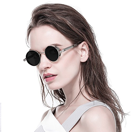 Sunglasses Wind Glasses Gray Unique Fashion Vintage Black Steam Punk Retro B Classic Design Sun 1xwTp6Xq