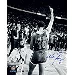 365b3715625 Walt Frazier Autographed Blue Knicks Jersey - Beautifully Matted and ...