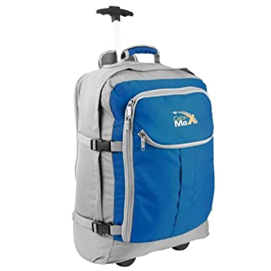Amazon.com | Cabin Hand Luggage Trolley Backpack with padded ...