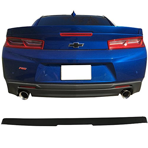 - Trunk Spoiler Fits 2016-2018 Chevy Camaro | OE Style Flush Mount 3-Piece Blade Trunk Boot Lip Spoiler Wing Add On Deck Lid By IKON MOTORSPORTS | 2017