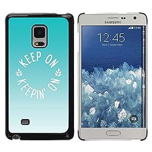 Helado de Menta Verde Marrón Verano- Metal de aluminio y de plástico duro Caja del teléfono - Negro - Samsung Galaxy Mega 5.8