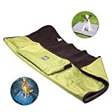 ThinkPet Multi-function Portable Waterproof Car Seat Protector Blanket for Pet,Best Choice for Outdoor Indoor Activities,Green
