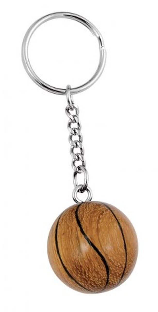 Ten Portachiavi Pallone Basket in Legno Fatto a Mano cod.EL34529 cm 8,5x2,6x2,6h by Varotto /& Co.