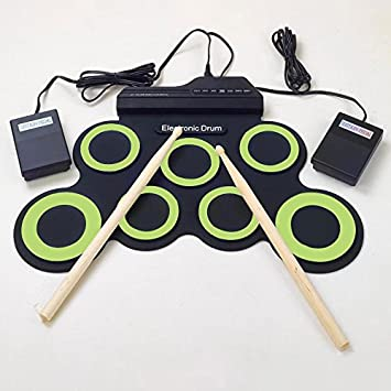 Forfar MIDI Drum Kit Elektronische Roll Up mit integrierten ...