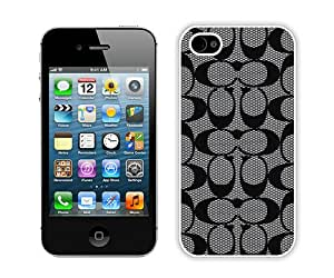 Popular And Durable Custom Designed Case For iPhone 4S With Coach 60 (2) White Phone Case