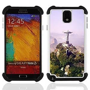 - Architecture Brazil Jesus Statue/ H??brido 3in1 Deluxe Impreso duro Soft Alto Impacto caja de la armadura Defender - SHIMIN CAO - For Samsung Galaxy Note3 N9000 N9008V N9009
