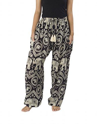 Lannaclothesdesign Womens Elephant Hippie Harem product image
