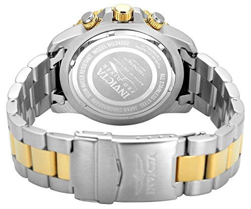 Invicta Men's 'Pro Diver' Quartz Stainless Steel Casual Watch, Color:Two Tone (Model: 24002)