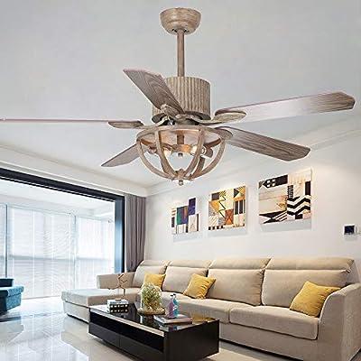 Andersonlight ventilador de techo rústico con 2 luces ...