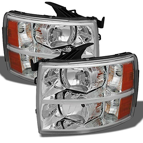 Chevy Silverado Replacement Headlights Driver/ Passenger Head Lamps Pair New