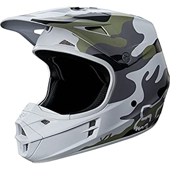 Fox Racing V1 SD SE Mens MX Motorcycle Helmets - Camo/Medium
