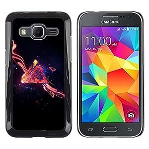 LECELL--Funda protectora / Cubierta / Piel For Samsung Galaxy Core Prime -- Espacio Abstracto --