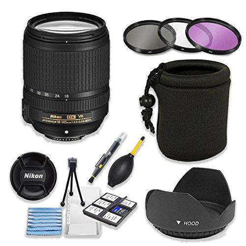Nikon AF-S DX NIKKOR 18-140mm f/3.5-5.6G ED VR Lens Bundle w