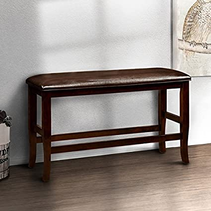 height of dining table bench pub bench clemmine espresso contemporary counter height dining 26 in high 41 wide amazoncom
