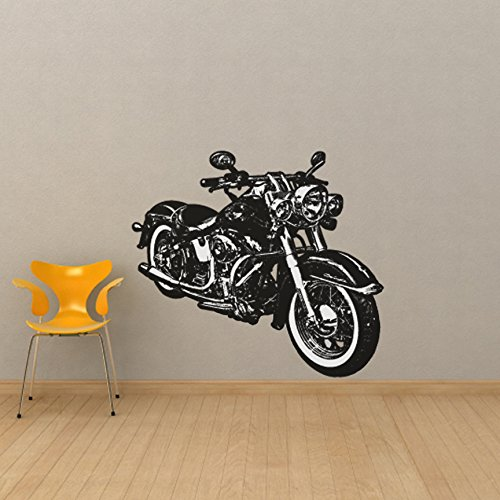 - Classic Hog - Motorcycle Vinyl Wall Decal - 53