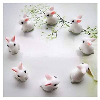Ardest Slime Charms Miniature Bunnies Cake Topper 30 Pcs Slime Beads for Cake Topper Craft Arts Bath Bombs Rabbits Fairy Garden Succulents Plant Terrarium Decoration Ornament: Arts, Crafts & Sewing